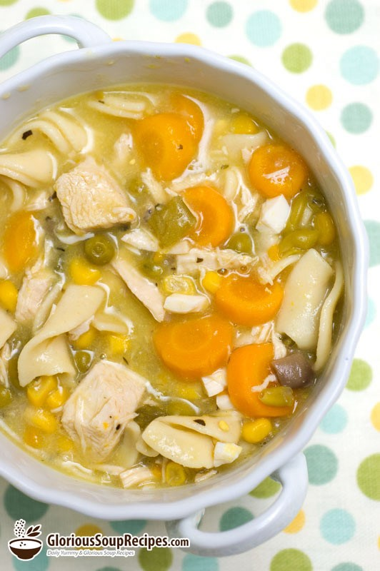 Recipe For Chunky Chicken Noodle Soup : Glorious Soup Recipes