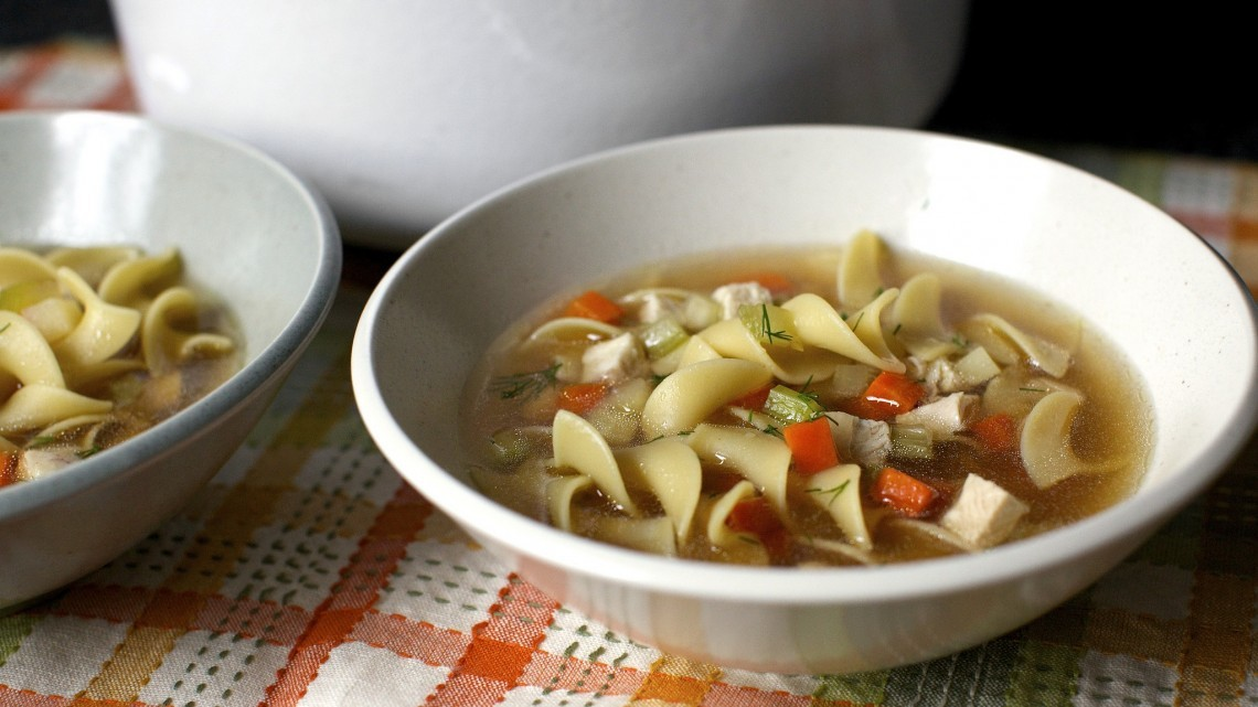 Roasted Chicken Noodle Soup : Glorious Soup Recipes