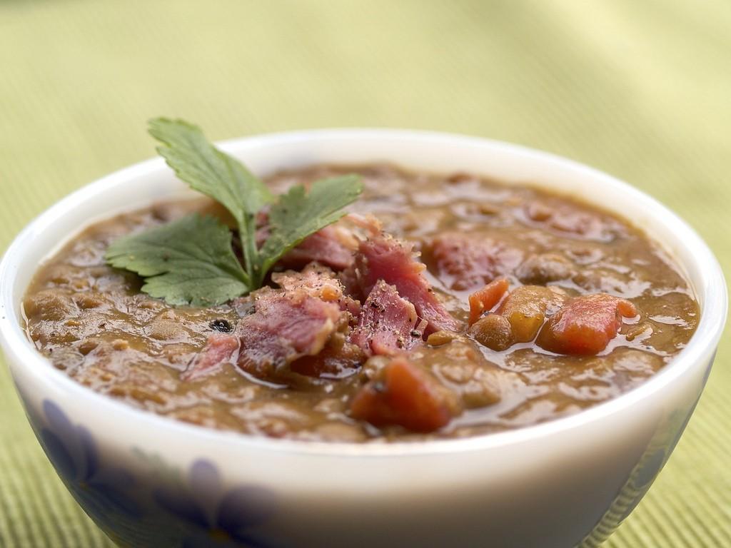 Slow Cooker Lentil and Ham Soup Recipe : Glorious Soup Recipes