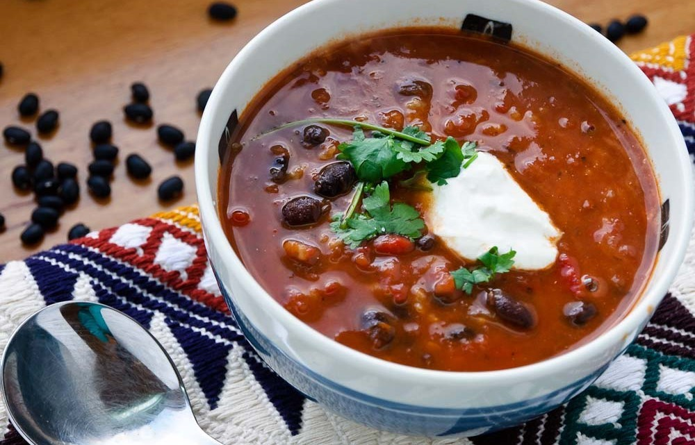 Spicy Black and Red Bean Soup Recipe : Glorious Soup Recipes