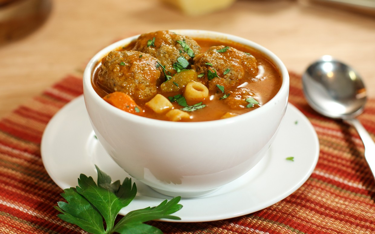 Meatball and Pasta Soup Recipe : Glorious Soup Recipes