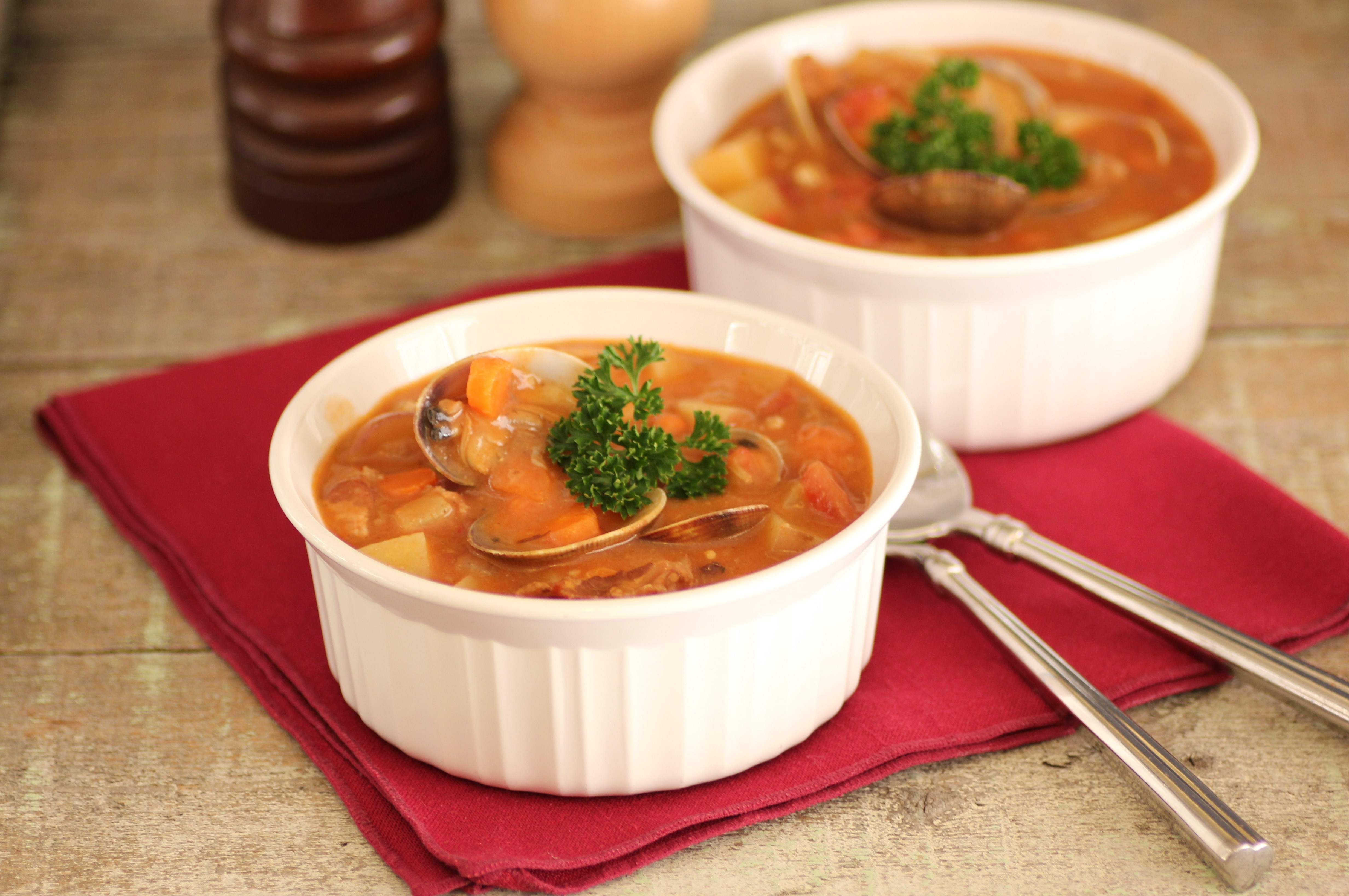 Microwave Sausage and Clam Soup : Glorious Soup Recipes