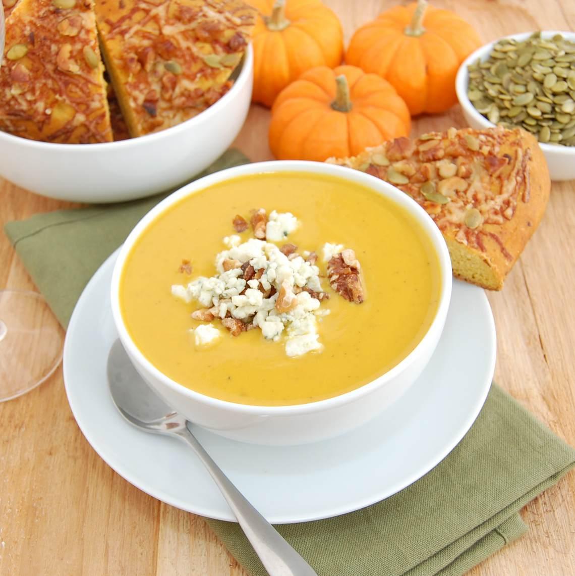 Party Hit Creamy Pumpkin Soup Recipe : Glorious Soup Recipes