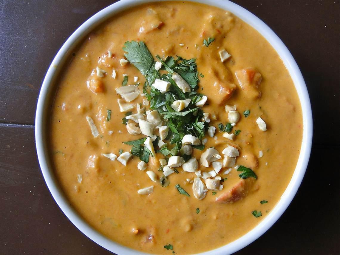 Jennifer's Thai Curried Peanut Soup : Glorious Soup Recipes