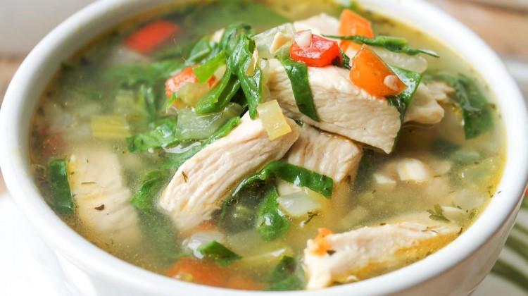 Chicken, Spinach, and Potato Soup : Glorious Soup Recipes