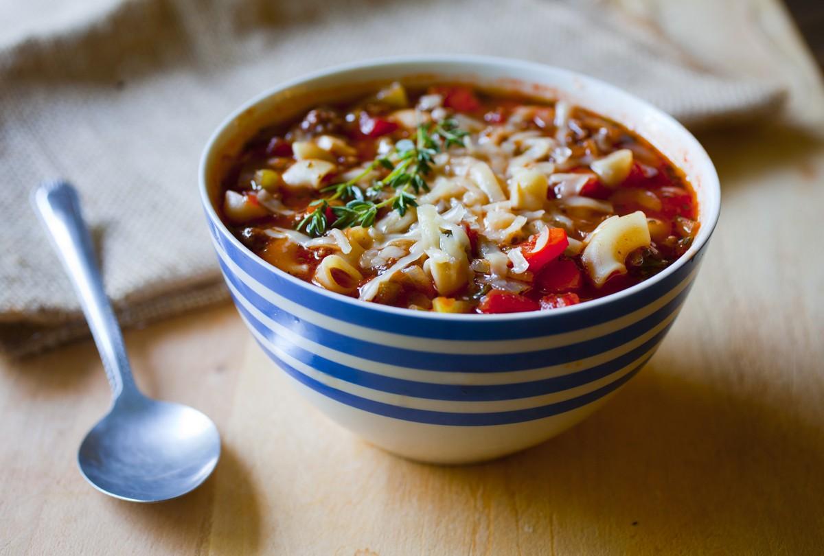 Tomato Macaroni Soup : Glorious Soup Recipes
