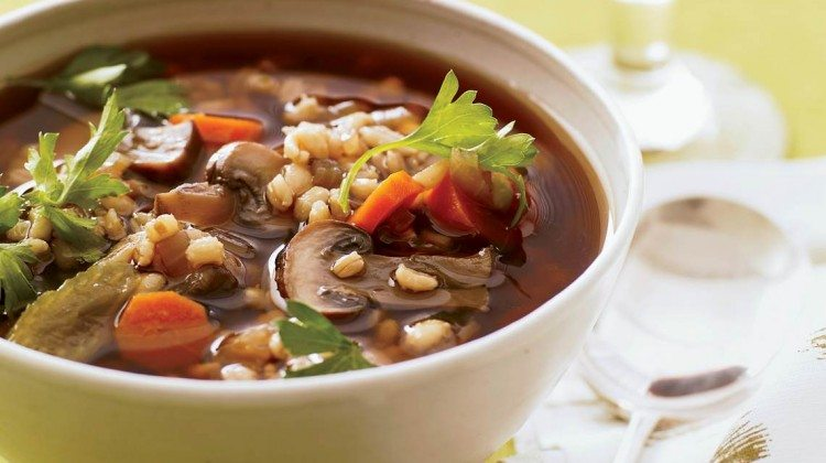Recipe For Very Easy Mushroom Barley Soup