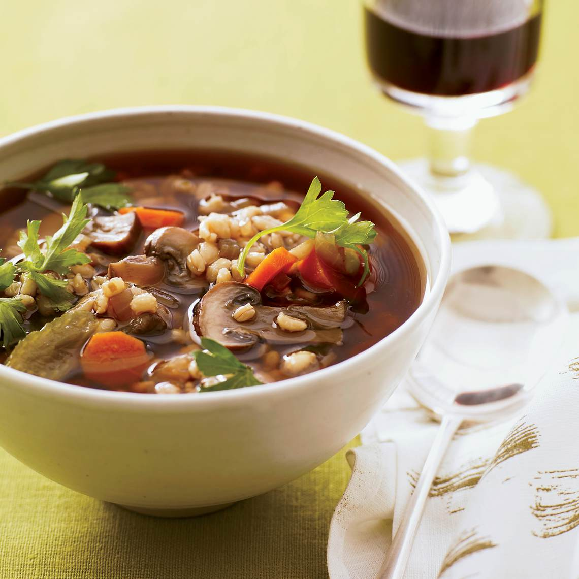 Recipe For Very Easy Mushroom Barley Soup : Glorious Soup ... - photo#45
