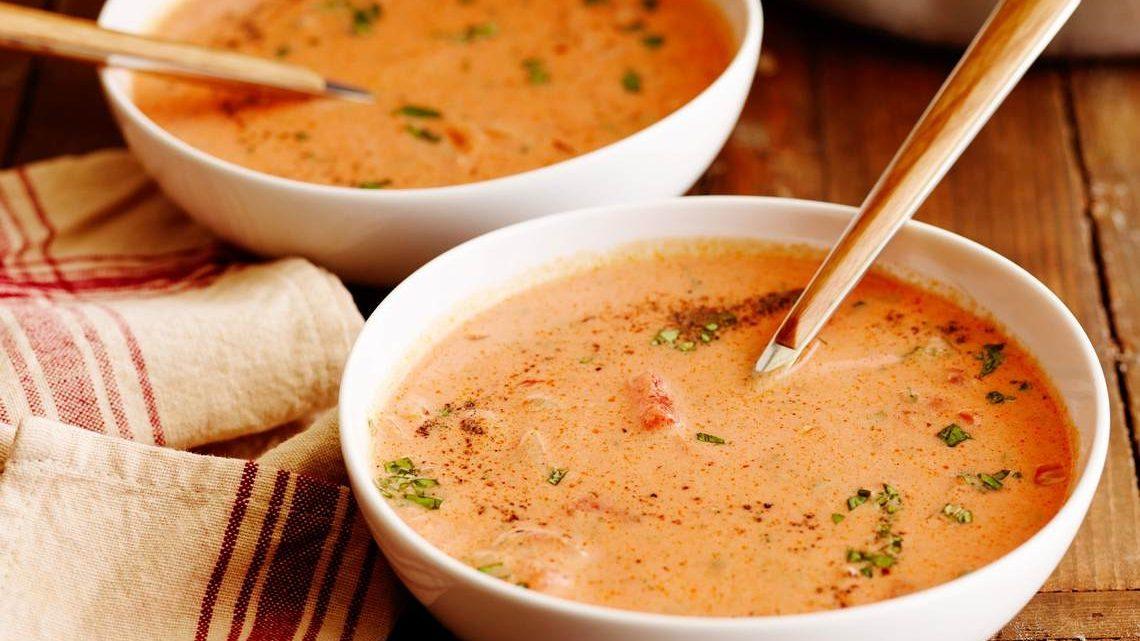 Recipe For Creamy Tomato And Cream Cheese Soup : Glorious ...