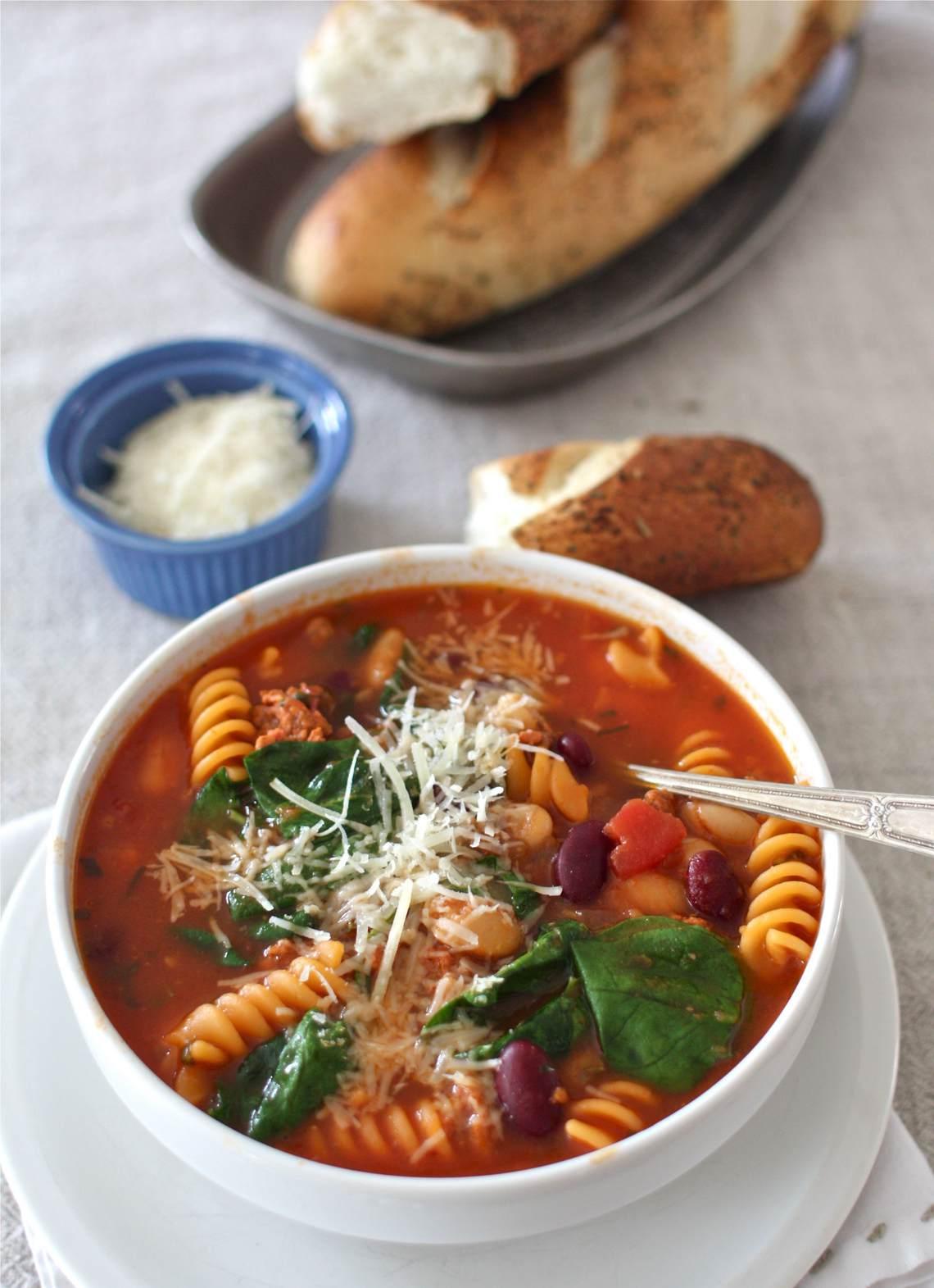 Bean & Pasta Soup Recipe : Glorious Soup Recipes