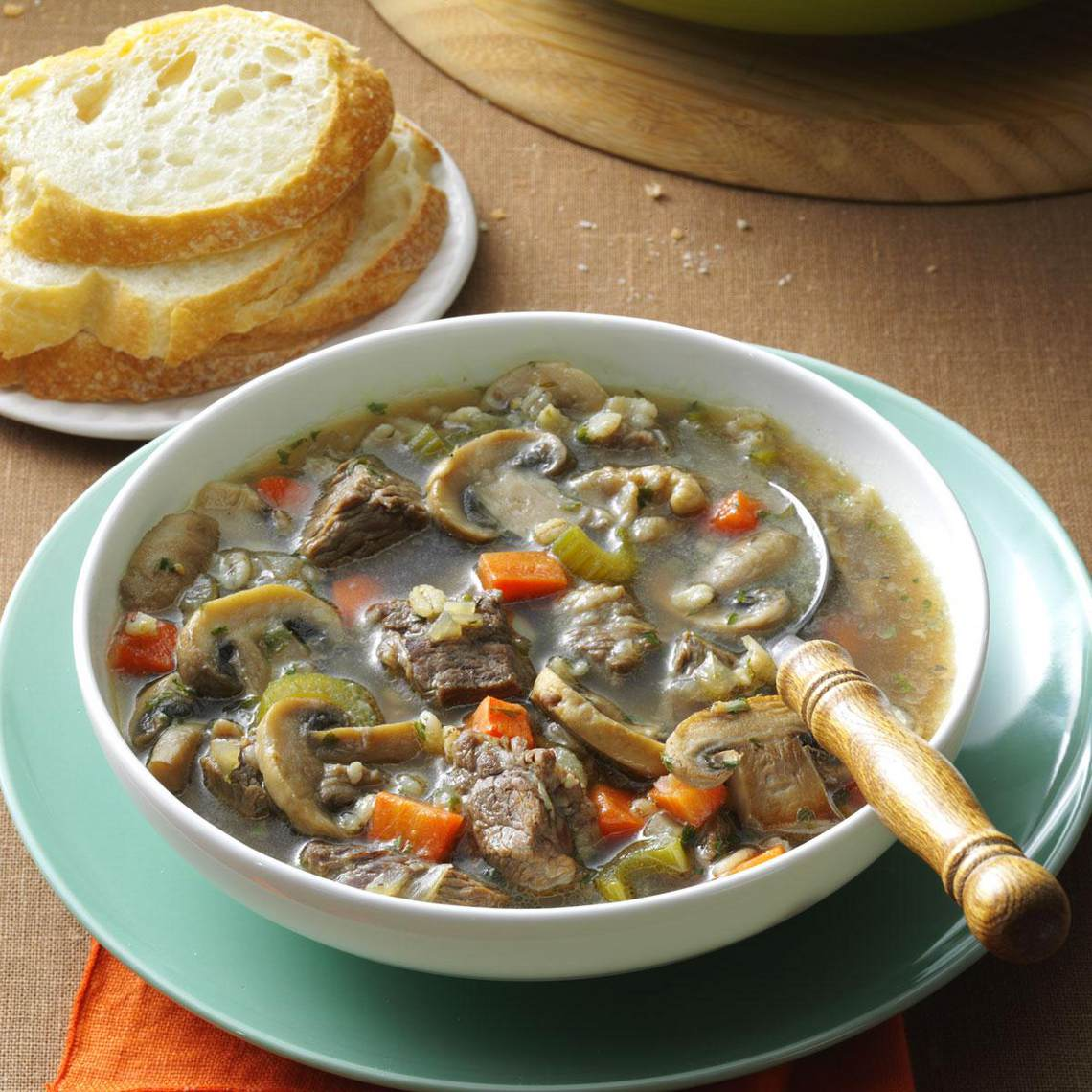 Savory Mushroom-Barley Soup : Glorious Soup Recipes