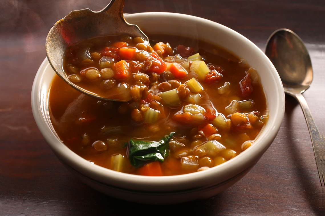 How To Make Beefy Lentil Vegetable Soup Glorious Soup